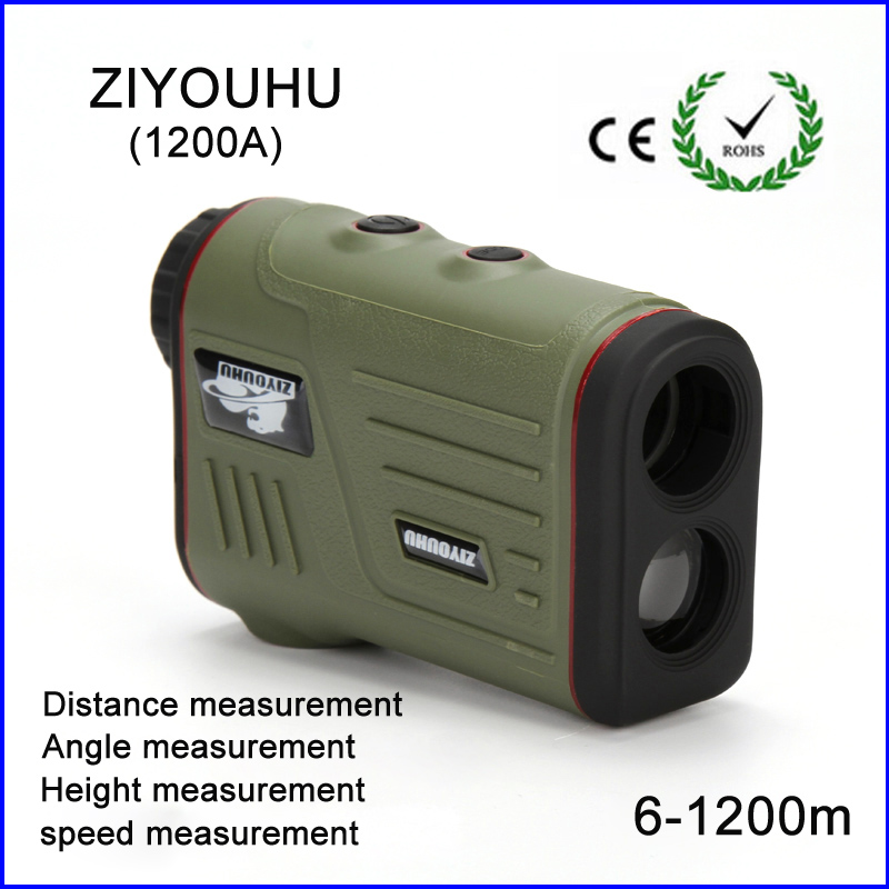 1200m Hunting Monocular Telescope Golf Laser range Distance Meter Rangefinder Range Finder with angle height speed measurement ziyouhu new hunting monocular telescope 6x25 golf laser range distance meter speed rangefinder 600m range finder for golf sport