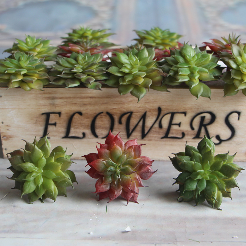 6 piecesHome decoration simulation succulent potted mini Lulin artificial flower se thumbnail