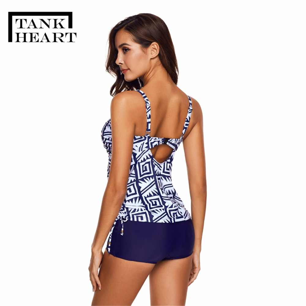 Badpak Short.Detail Feedback Questions About Tank Heart Print Plavky Plus Size