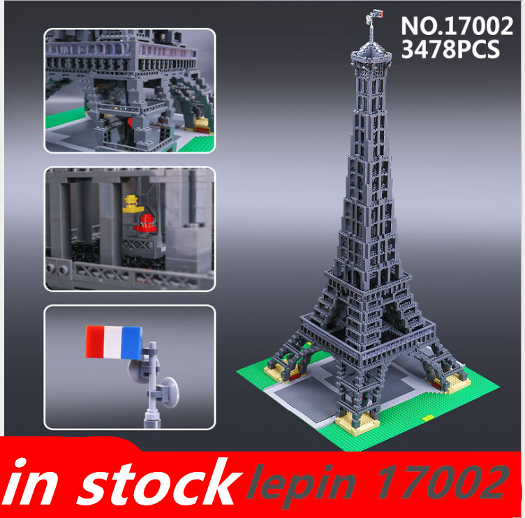 Lepin Eiffel Tower lepin 17002 Compatible legoing Eiffel Tower legoing creator 10181 3478pcs Model Building Kits Set Brick Toys ювелирное украшение из шифона eiffel tower с бриллиантами от 18s rose golds