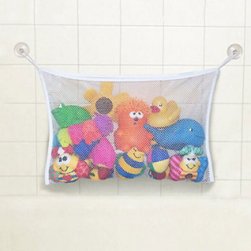 Kids Baby Bath Tub Toy Tidy Storage Suction Cup Bag Mesh Bathroom Organiser Net Wall Hanging Storage Bag Bathroom Drop Shipping