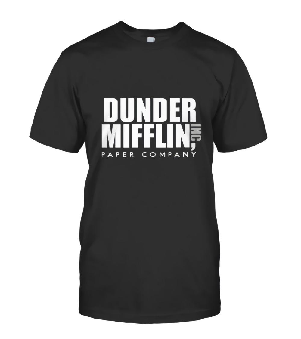 Funny Design Dunder Mifflin The Office Sweater Comedy Funny Mens Black T-Shirt s-2xl