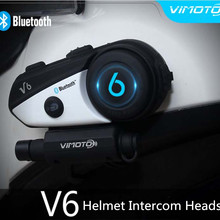 Headset Intercom Simultaneously Motorcycle-Helmet Bluetooth Vimoto-V6 Pair 2 2-Different