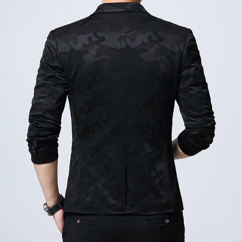FGKKS модный бренд мужской повседневный Блейзер одежда деловой костюм осенний мужской однобортный костюм пиджак Мужской приталенный костюм Блейзер