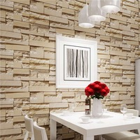 Luxury Stone Brick Wall Vinyl Wallpaper Roll 3D Living Room Bedroom Background Wall Decor Art Wall Paper Papel De Parede 10M Wallpapers