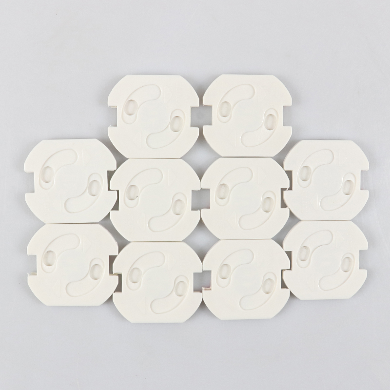 10pcs Baby Safety Rotate Cover 2 Hole Round European Standard Children Against Electric Protection Socket Plastic Security Locks