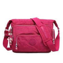 Купить с кэшбэком Women Messenger Bags Waterproof Nylon Shoulder Bag For Women Crossbody Bag Big Solid Beach Travel Bags Female bolsa feminina