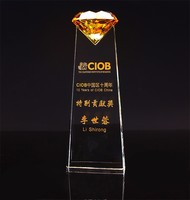 Crystal Glass Diamond Trophies And Awards Carving Letters Logos Sports European Football Champions League Cup Souvenir