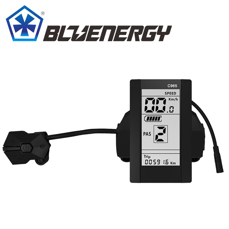 Bafang C965 Ebike LCD Display BBS01 BBS02 BBSHD Electric Bicycle Part w/ Accessories free shipping authentic bafang 36v 350w electric bicycle bbs01 mid crank drive motor kit ebike c965 color 850c lcd conhismotor