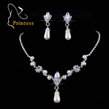 2016 Vogue Alloy Necklaces Earrings Rhinestone Marriage ceremony Rhinestone Bridal Jewellery Units Wholesale Jewelry For Ladies B5