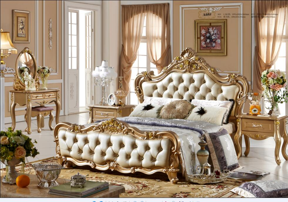 US $3200.0 |Luxury French style bedroom furniture sets 0409 A05-in Bedroom  Sets from Furniture on AliExpress