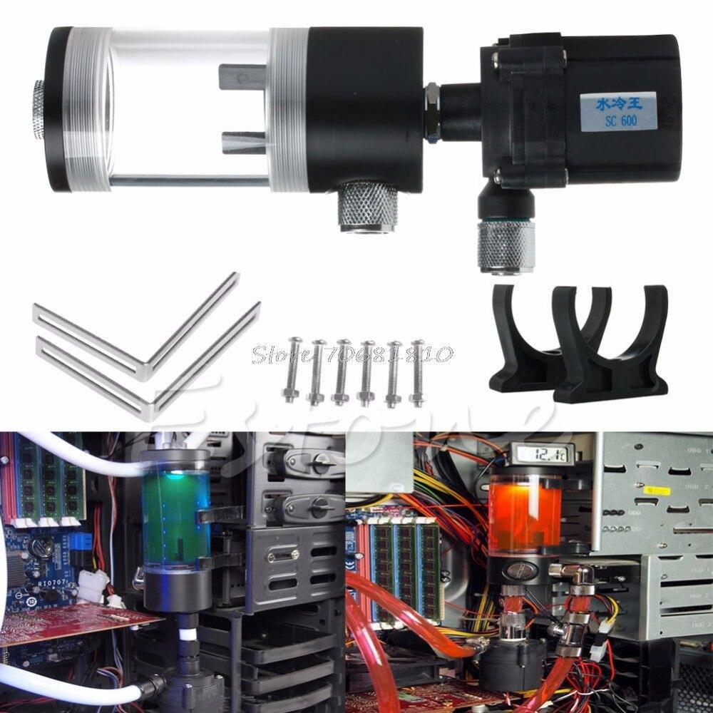 все цены на 110mm Cylinder Water tank + SC600 Pump Computer Water Cooling Radiato Set #K400Y# DropShip онлайн