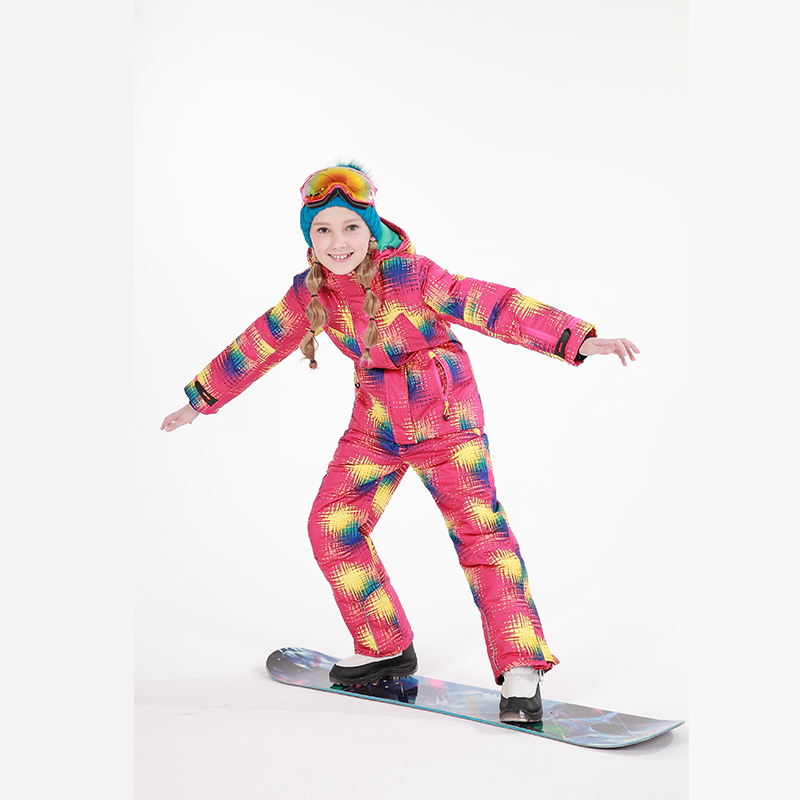 2018 Girl Ski Suit Winter Outdoor Children Clothing Set Windproof Ski Jacket+Pant 2pcs Sets Kids Snow Warm Sport Suit for Girls men plus size 4xl 5xl 6xl 7xl 8xl 9xl winter pant sport fleece lined softshell warm outdoor climbing snow soft shell pant