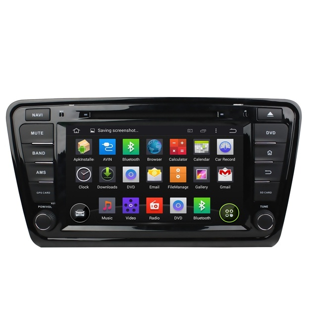 1024*600 Capacitive Car DVD Player Skoda Octavia 2012 2013 a 5 a5 Yeti Pure Android 4.4 Dual Core 1.6GHz Radio GPS Navigation BT