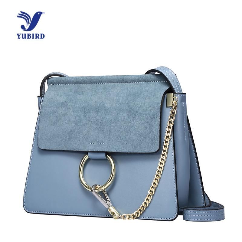 YUBIRD Womens Bags with Ring Shoulder Bag Designer Famous Brand Nubuck Leather Chain Messenger Bag Crossbody pochette sac femme
