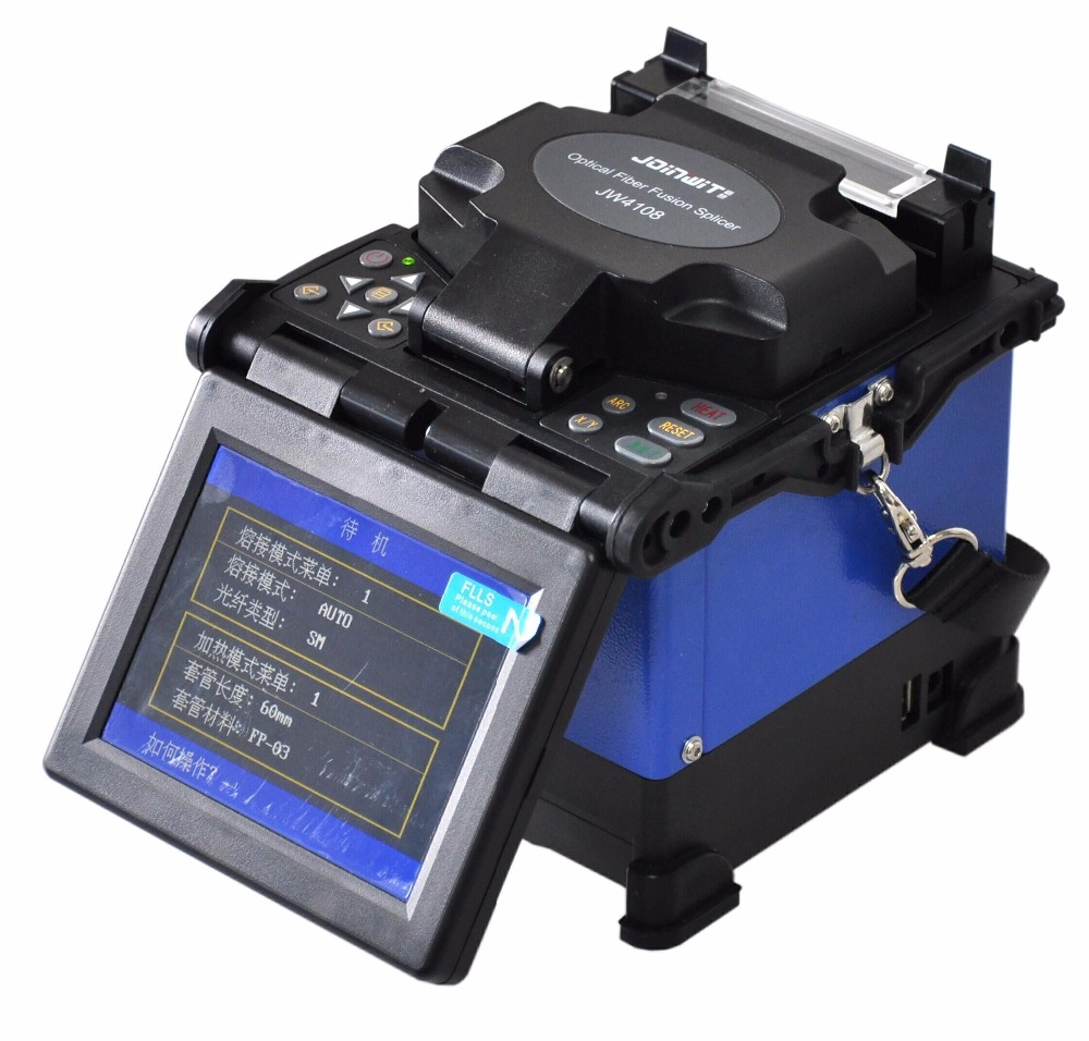 ZHWCOMM JW4108 optical fiber cable splicing machine 5 inches LCD display optical fusion splicer BY DHLZHWCOMM JW4108 optical fiber cable splicing machine 5 inches LCD display optical fusion splicer BY DHL