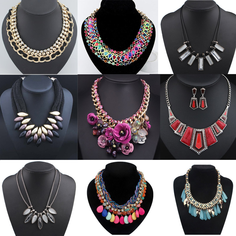 2016 New Fashion pearl detachable collar necklace collar wholesale tassel crystal bead vintage white lace pearl false collar
