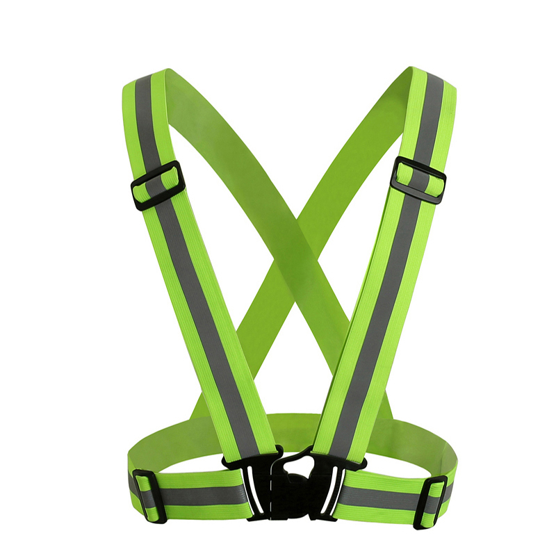 High Visibility Neon Safety Vest Reflective Belt Safety Vest Running Cycling Climbing Motorcycle Outdoor Sports Clothes