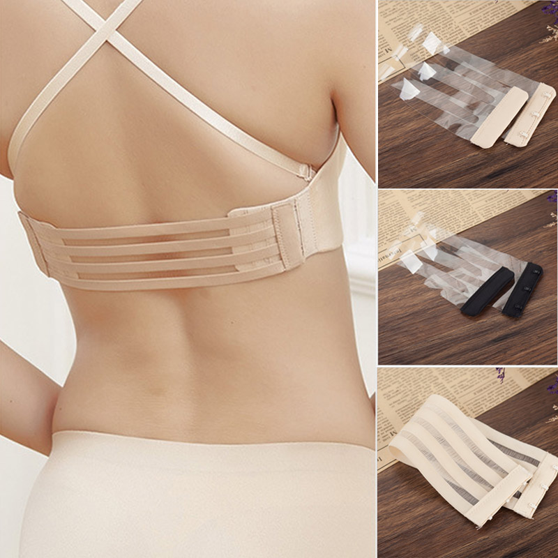 Women Bra Extender 1 Rows 3 Hooks Elastic Hollow Out Back Clasp For Underwear -MX8
