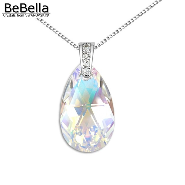 Bebella pear shaped pendant necklace made with austrian crystals bebella pear shaped pendant necklace made with austrian crystals from swarovski crystal drop pendant for 2017 aloadofball Image collections