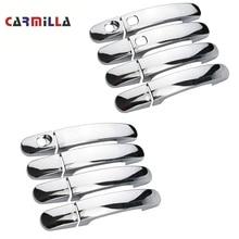 Carmilla 8 шт. ABS Хромированная Автомобильная дверная ручка Защитная крышка двери Накладка для Ford Focus 2 3 4 MK2 MK3 MK4 Kuga Escape аксессуары