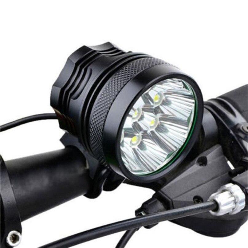 New 28000 Lm 11T6 LED Bicycle lantern bike Headlamp HeadLight Lamp Flashlight Lights 6400mAh battery farol bike light #2A26 (4)