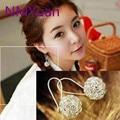 Great Style Chic Hollow Balls Silver Earrings Korean Fashion Lovely Wild Earrings Wholesale