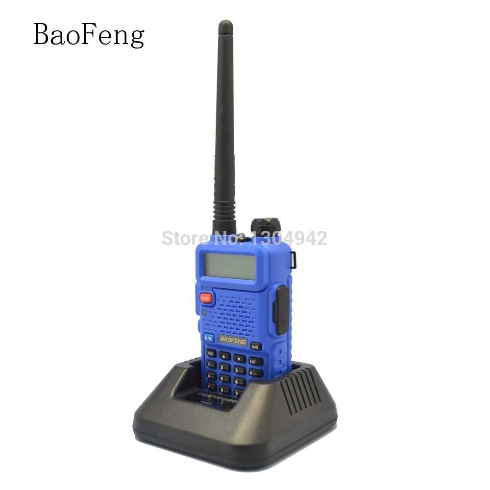 BAOFENG UV-5R Blu Walkie Talkie 136-174 MHz e 400-520 MHz Radio Bidirezionale Con Spedizione Gratuita Telecom PartsBAOFENG UV-5R Blu Walkie Talkie 136-174 MHz e 400-520 MHz Radio Bidirezionale Con Spedizione Gratuita Telecom Parts