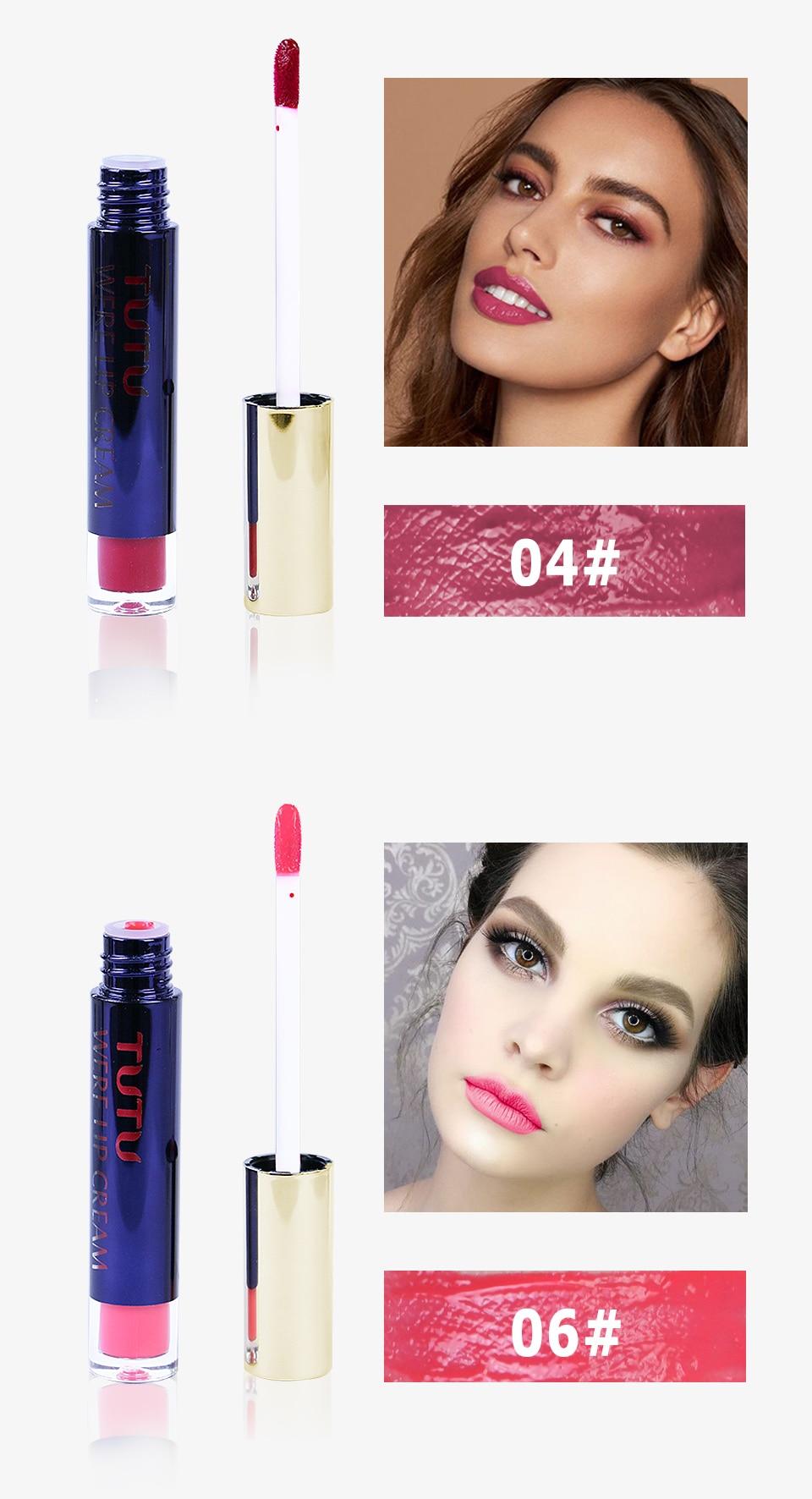 Professional Lip Makeup Matte Lip Gloss Velvet Red Lipstick Liquid Tint Waterproof Moisturizer Full Color Lip Gloss Set Make up 9