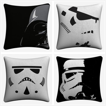 Darth Vader Stormtrooper Movie Decorative Linen Cushion Covers Sofa 45x45cm Throw Pillow Case Home Decor Pillowcase Almofada