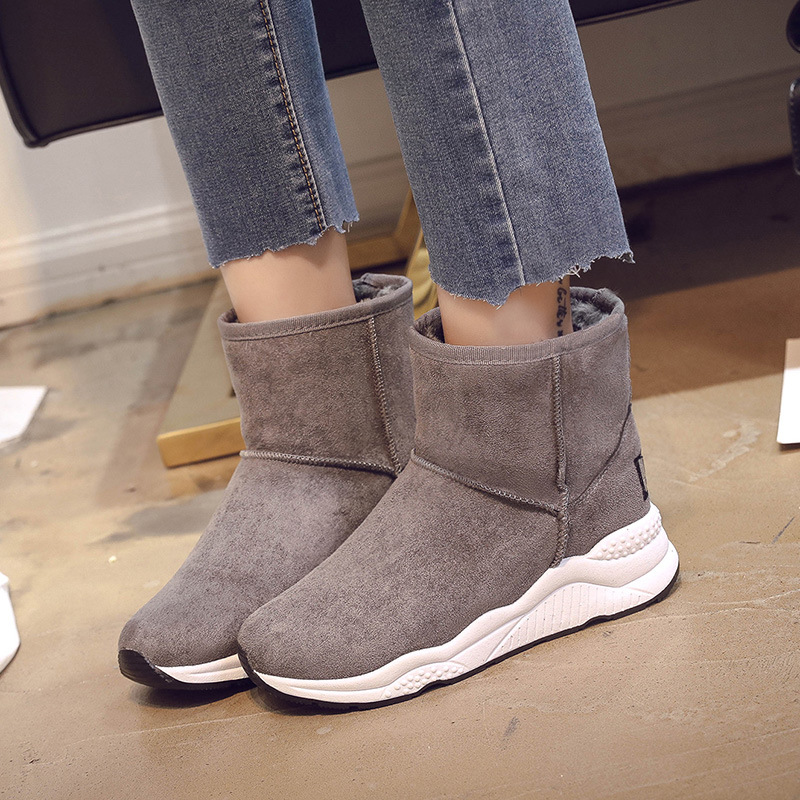 Winter Snow Boots Women Casual Shoes Slip On Warm Plush Women Ankle Boots Flat Heel Sport Ladies Shoes Booties Botas Mujer XZ82 in Ankle Boots from Shoes
