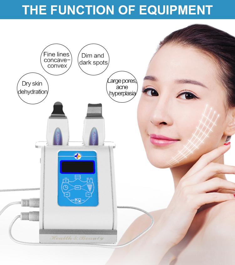 Small Touch Screen Double Face Deep Clean And Removal Wrinkle Skin Scrubber  Facial Peeling Spa Beauty Massager