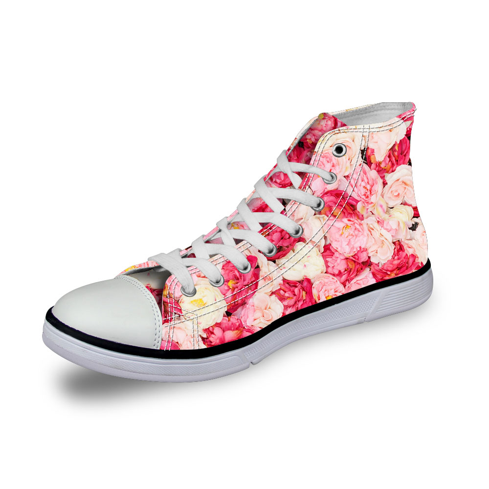 Top Impression Ha0171ak Vintage 2 Filles Lacent Vulcanisé 2 Femmes Roses Toile ha0174ak Fleurs ha0172ak 3d High Noisydesigns Rose 2 2 akcustomized ha0175ak Plat Chaussures ha0173ak Sneakers Occasionnels Dames 2 0OXP8nwNk