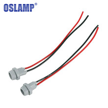 Oslamp For T10 7440 7443 1156 1157 Socket Adapter Wire LED Replacement Signal Bulb Converter Holder with Wiring 2pcs/Pack T20(China)