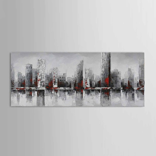 New York City Picture Canvas Painting Modern Wall Art: New York City Picture Canvas 100% Handmade American Style