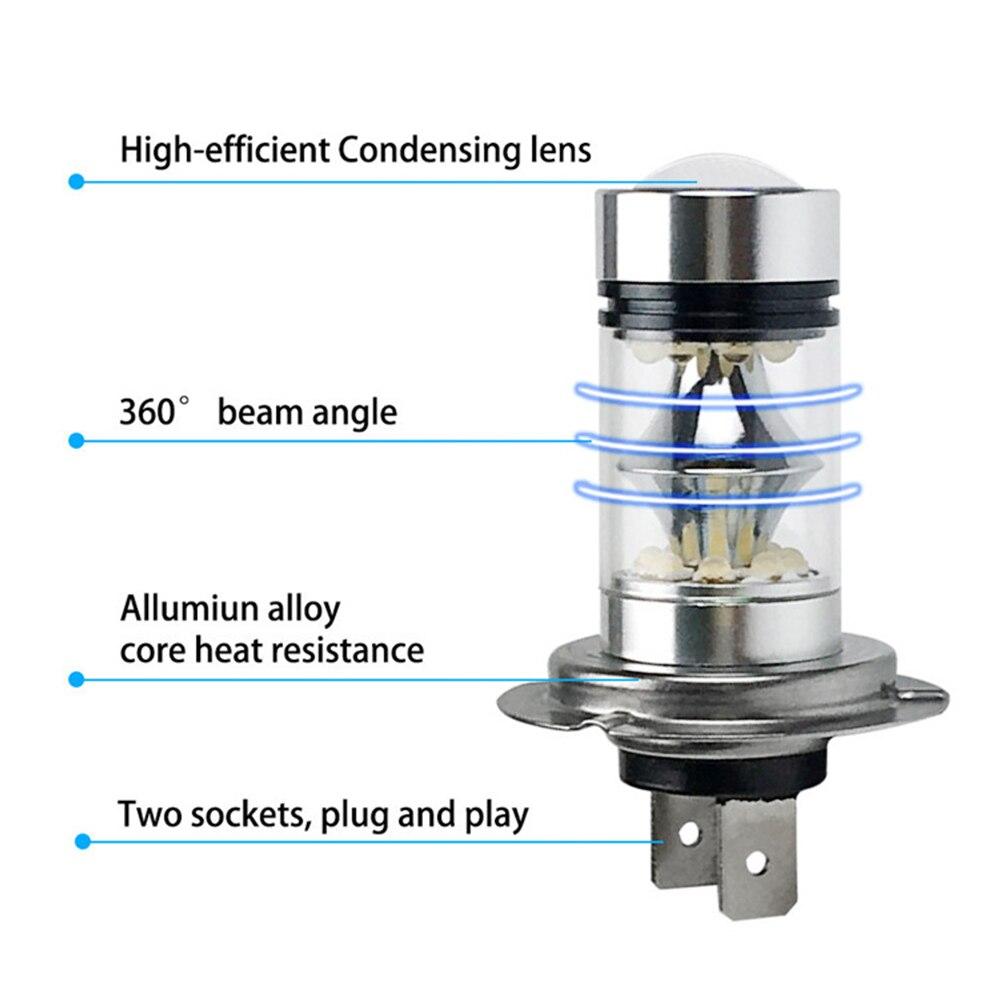 Lâmpadas Led e Tubos 2 pcs h7 lâmpada led Color Temperature : White, 6000k