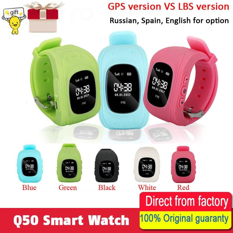 Anti Verloren Q50 OLED Kind GPS Tracker SOS Überwachung Positionierung Telefon smart Kids GPS baby Uhr Kompatibel IOS & Android VS q90