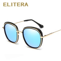 ELITERA Metal Frame Cat Eye Women Sunglasses Female Sunglasses Famous Brand Designer Alloy Legs Glasses Oculos