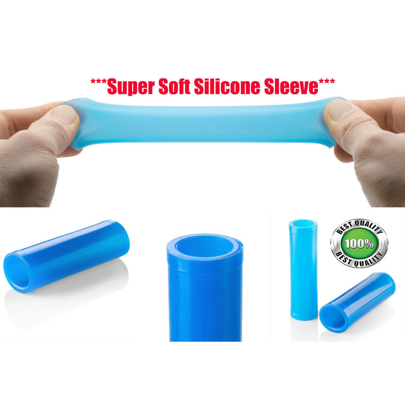 2 Silicone Sleeves for Penis Enlargement Extender Stretcher Pump Hanger Enlarger Penis sleeve For phallosan condom phallosan vacuum ball size master chain male penis enlargement stretcher extender enlarger hanger enhancement pump sizemaster