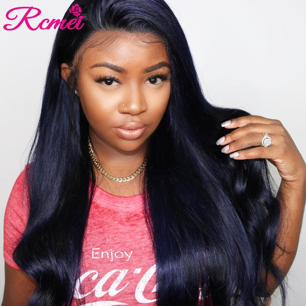 360 Lace Front Human Hair Wigs For Black Women Brazilian Straight Hair 360 Lace Frontal Wig