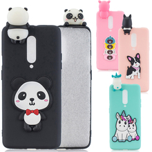 Soft 3D Cute Cartoon Animal Phone Back Case Slim Fit Bumper for OnePlus 7 Pro Anti-fall Panda Dog Cat Bear Protective Cover