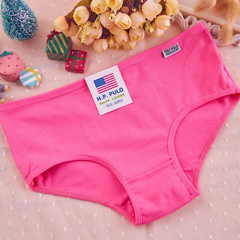 Woman Cotton Low Waist Panties Underwear Girls Solid Underpants Female Comfortable Soft Briefs Candy Color Ladies Undies