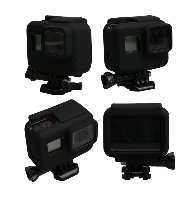 Colorful Soft Silicone Rubber Frame Protective Case for GoPro Hero 5 Black Protective Cover for Go Pro 5 Camera Accessories (4)