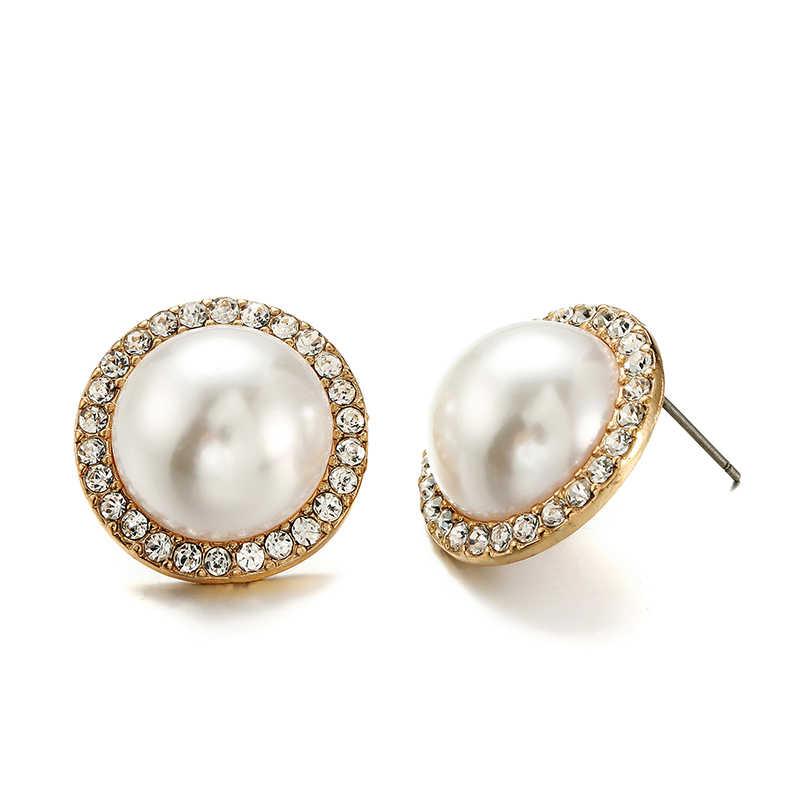 Ensoul Pearl and crystal for women oorbellen fancy stud earrings women's fashion jewelry EER-0411