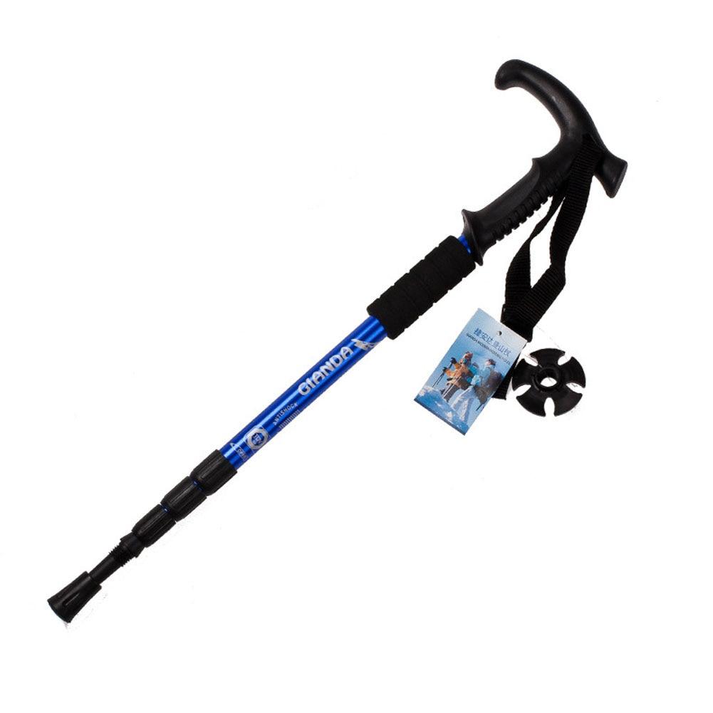 1 Pza unids bastón de senderismo postes de sendero ultraligero 4 secciones Protector de bastones ajustables, varilla de aleación de aluminio