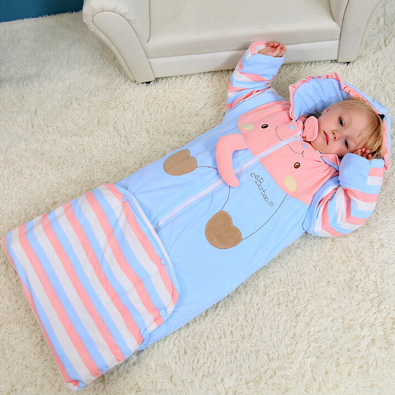 Animal Baby Sleeping Bag For Newborn Infant Fall Winter Keep Warm Prevention Kicking Quilt Cotton Sleepsacks