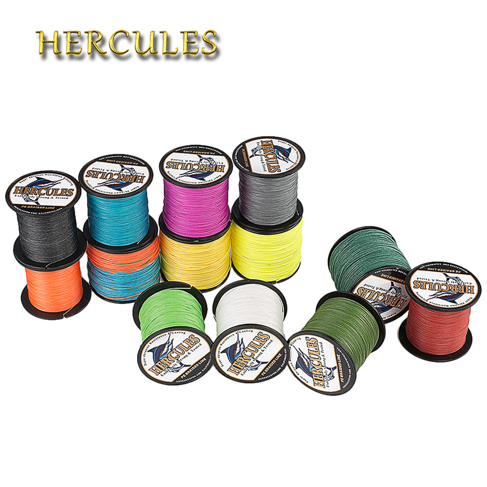 Hercules Braided Fishing Line 8 Strands 100M PE Braided Wire For Carp Fishing Multifilament 10-300LB Extreme Strong Cord Pesca
