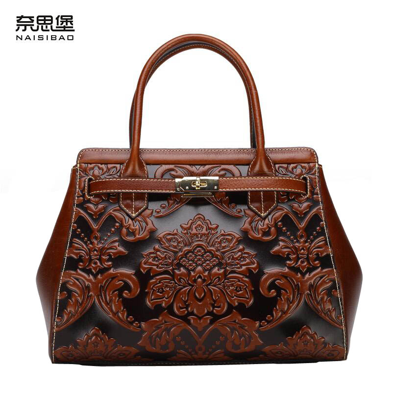 Famous brand top quality Cow Leather women bag  2016 new the original brand handbags Chinese retro style messenger bag famous brand top quality cow leather women bag 2016 new chinese style embossed handbag retro shoulder messenger bag