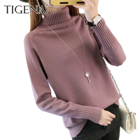 TIGENA Thick Warm Turtleneck Sweater Women 2017 Autumn Winter Tricot Jumper Women Sweaters And Pullovers Female