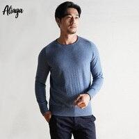 2018 новые осенние Для мужчин; модный кашемировый свитер Повседневное круглым вырезом теплый мягкий 100% из чистого кашемира плюс Размеры пуло